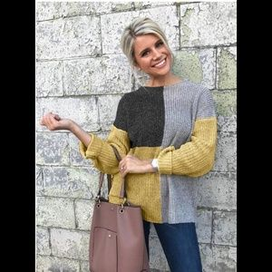 Sweaters - Coming soon! Mustard chunky knit sweater